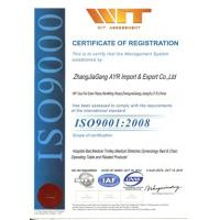 Zhangjiagang Ayr Imp. & Exp. Co., Ltd. Certifications
