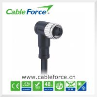 Wholesale IP67 M12 3pin female right angled circular connector with cable CNC screw from china suppliers