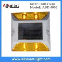 Wholesale 4 LED Solar Road Studs ASD-006 Solar Reflecting Marker for Traffic Warning Solar Panel Reflecting Studs for Driveway from china suppliers