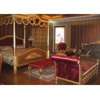 Wholesale Golden Wood Wedding Bedroom Furniture Sets  King Throne Beds For Wholesale from china suppliers