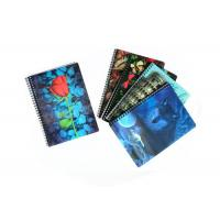 Wholesale 0.6Mm Thickness Plastic Cover 3D Lenticular Spiral Notebooks 80 Pages from china suppliers