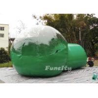 Wholesale 0.8mm PVC Convenient Clear / Green Inflatable Bubble Tent for Outside Camping 3 - 8m from china suppliers