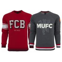 Wholesale Mens Pullover Football Sweatshirts MUFC Grey FCB Red Chelsea 1905 from china suppliers