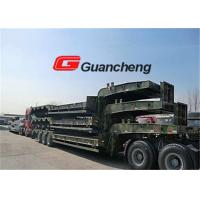 Wholesale Heavy equipment Low Bed Semi Trailer with hydraulic System 70T Loading Capacity from china suppliers