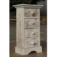 Buy cheap Carving Design White Wood Woven Drawer Cabinet  French Furniture from wholesalers