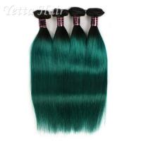 Wholesale 1B Green Ombre Human Hair Extension Silky Straight Hair Weave from china suppliers