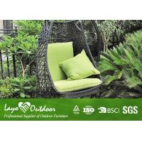 Wholesale Cushioned Rattan Hanging Swing Chair For Outside Powder Coated Frame Hanging Wicker Egg Chair from china suppliers