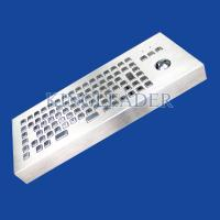 Quality 86 Keys Dust-proof Metal Industrial Ccomputer Desktop Keyboard With Trackball for sale