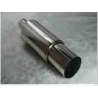 Wholesale stainless steel short exhaust performance muffler round box with flat single layer tip from china suppliers