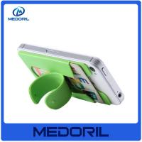 Quality Hot Selling Adjustable 3m sticker silicone mobile phone card holder with stand for sale