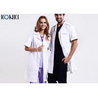 Wholesale Custom Medical Scrubs Uniforms , White Doctor Lab Coat For Man / Women from china suppliers