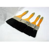Wholesale Black Bristle Flat Paint Brushes For Walls , Soft Deck Paint Brush With Handle from china suppliers