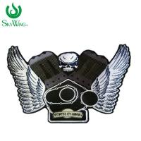 Wholesale Fashion Unique Iron On Clothes Badges / Laser Cut Custom Motorcycle Patches from china suppliers