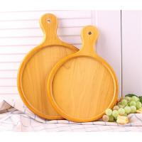Wholesale Eco-friendly Nature Safety Handmade Wooden Serving Tray Wooden Pizza Plate from china suppliers