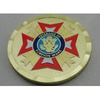 Wholesale Zinc Alloy Gold Plating Veterans of Foreign Wars Personalized Coins with Soft Enamel, for Commemorative from china suppliers