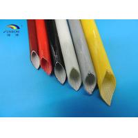 Wholesale Silicone Coated Fiberglass Braided Sleeving / Insulation Silicon Glass Tube Cable Sleeve from china suppliers