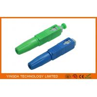 Wholesale Green / Blue SC UPC APC Field Installable Connector FTTH Use from china suppliers