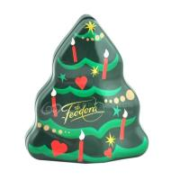 Wholesale Tree shaped Christmas irregular matal storage tin box chocolate gift packaging box from china suppliers