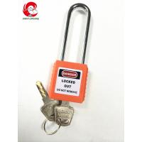Wholesale ZC-G21 Orange Steel Long shackle electrical lockout devices, electronic padlock security system from china suppliers