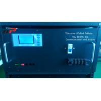 Wholesale Telecom Backup charging lifepo4 batteries 5U 48V 100Ah Capacity LCD Display from china suppliers