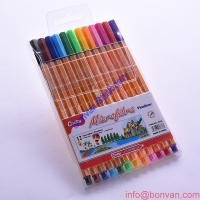 Wholesale 12 Color Fineliner Pens with Less Aberration,japanese tip,german ink,painting drawing pen from china suppliers