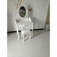 Buy cheap Wholesale white small wooden dressing table with drawer from wholesalers