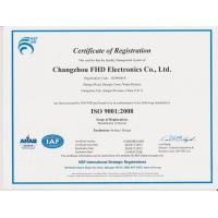 CHANGZHOU FHD ELECTRONICS CO.,LTD Certifications