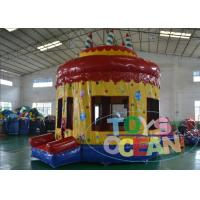 Wholesale Kids Inflatable Indoor Bounce House / Commercial Bouncy Castle With Cake from china suppliers