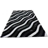 Wholesale Contemporary Grey 3d Polyester Shaggy Rug, Custom Size Hand-Tufted Silky Shaggy Rugs For Floor from china suppliers