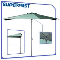 Wholesale 270cm Off-the-wall Patio Market Half Umbrella Wall Shade Outdoor Parasol from china suppliers