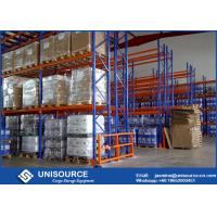 Quality Hot Rolled Q235 Racking System For Warehouse , Industrial Steel Shelving OEM for sale
