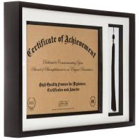 "Wholesale Urban Style Pure Black 11"" x 17"" Overall Document Picture Frames With A Tassle from china suppliers"