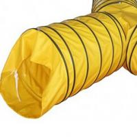 Yellow Y shape Tarpaulin Products Modular Tee Piece PVC Air Vent Ducting