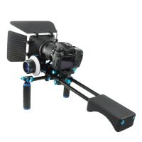 Wholesale Small Black Camera Shoulder Rig Video Double-Handle system Compatible With 15mm Rod from china suppliers