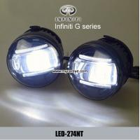 Wholesale Infiniti G series car front fog led lights car parts daytime running DRL from china suppliers