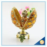 Wholesale Easter Decoration Gift/Best selling Egg Shape/ Rhinestone Metal Craft from china suppliers