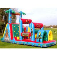 Wholesale Commercial Inflatable Obstacle Course , Adult And Kid Blow Up Obstacle Course from china suppliers