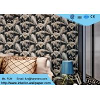 Wholesale Household Modern Flocked Wallpaper For Bedroom Walls , Non Woven Materials from china suppliers