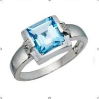 Wholesale Blue topaz diamond ring from china suppliers