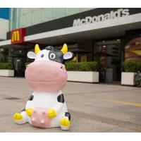Polyresin cute Cow Garden Decoration  recycling materials