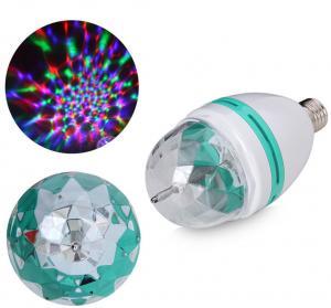 Quality E27 3w RGB Disco Lighting Led Ball Bulb Rotating Home Party Disco Light for sale