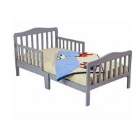 Quality Beautiful Childs Wooden Bed With Two Safety Rails , Childrens Pine Beds Middle Leg for sale