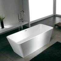 Wholesale custom Fashionable Stone Resin modern free standing soaking bathtubs bath shower from china suppliers