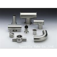 "Wholesale TP316L EP Polished Stainless Steel Equal Tee Pipe Fittings 1"" ASME BPE from china suppliers"