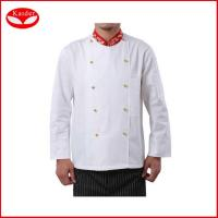 Wholesale 100% cotton kitchen suits chef jackets and pants for men , Europe size from china suppliers
