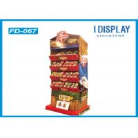Wholesale 4 Tiers Promotion Corrugated Cardboard Floor Displays 37*27*138 Cm from china suppliers