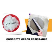 Wholesale White 100% Concrete Polypropylene Fiber , Concrete PP Fiber High Tensile Strength from china suppliers