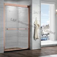 Wholesale Classical 304# Stainless Steel Red Antique Copper Etched Pattern Double Sliding Shower from china suppliers