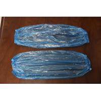 Buy cheap cheap disposable plastic PE sleeve cover in white, red, yellow or blue color from wholesalers