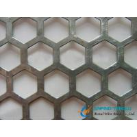 Buy cheap Hexagonal Hole Staggered Perforated Metal, 4.5mm to 12.7mm Hole Size from wholesalers